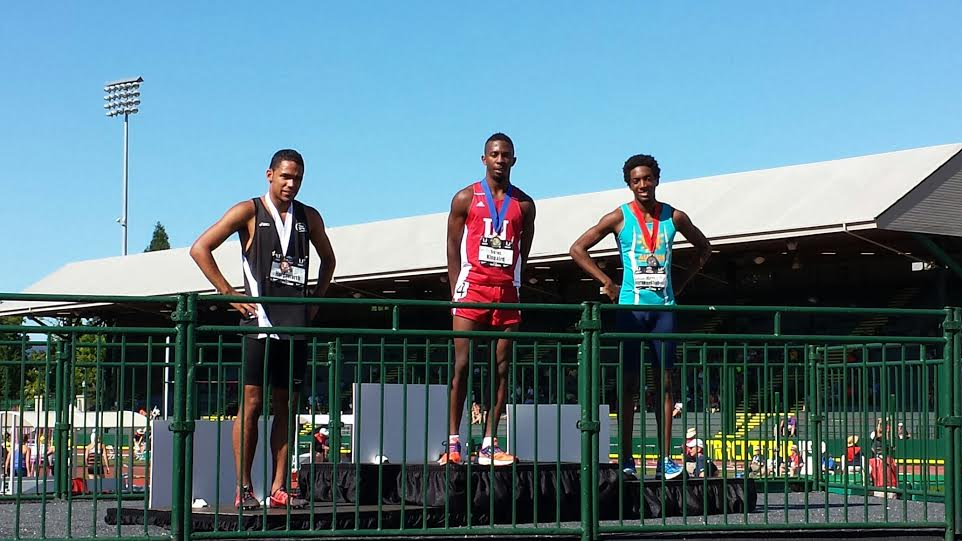 Right to Left: Derek Holdsworth (3rd), Tre'tez Kinnaird (1st), Myles Marshall (3rd)